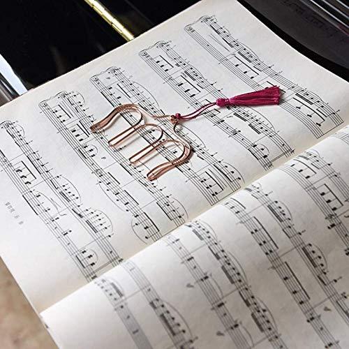 fondo a pagina clip per libri riviste e documenti colore casuale creative Hollow Music Book pagina del metallo segnalibro con nappe