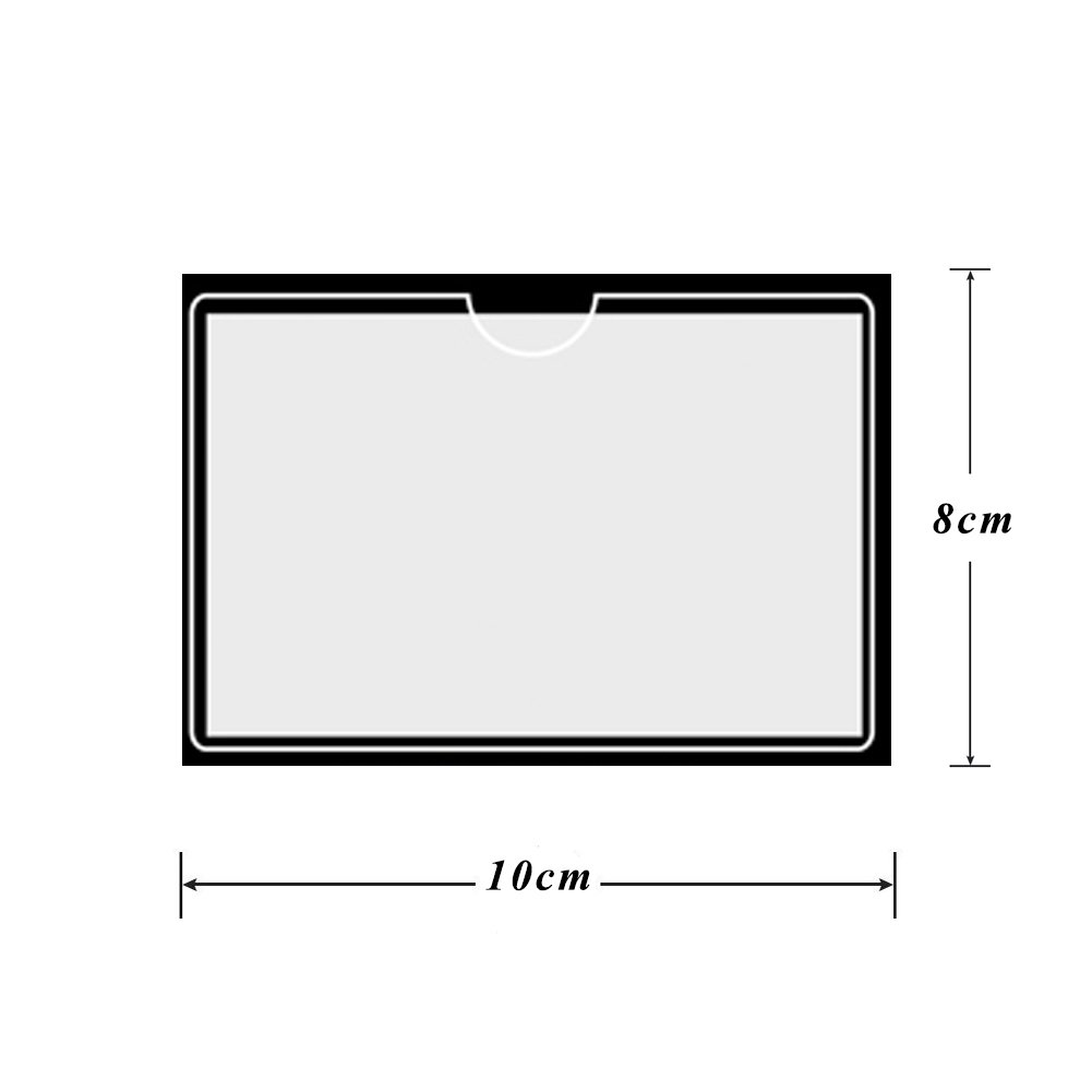 Self Adhesive, Transparent Qutaway Parking Permit Holder 12 Pack 10 8CM Ticket and Note Holders for Cars Badges Caravan Windscreen