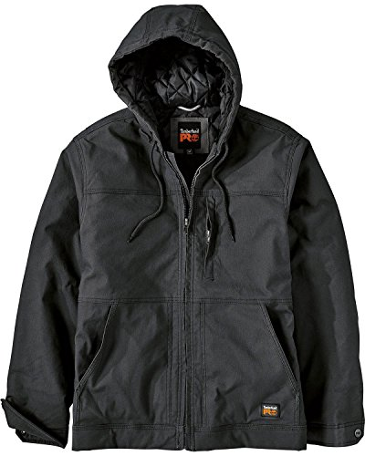 Timberland PRO Men's Big and Tall Baluster Insulated Hooded Work Jacket, Jet Black, X-Large by Timberland PRO