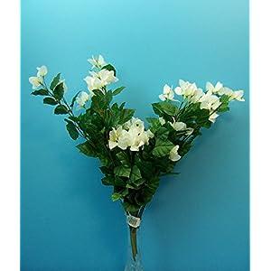 """Silk Flower Arrangements Quality 27"""" White Bougainvillea Cluster Artificial Faux Silk Flower Bouquet"""