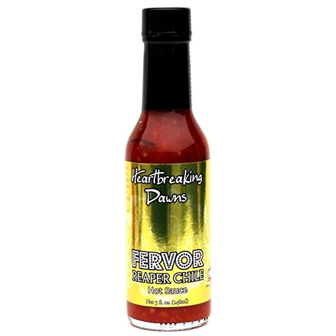 Amazon.com : Heartbreaking Dawns Fervor Reaper Chile Hot Sauce, 5oz. : Grocery & Gourmet Food