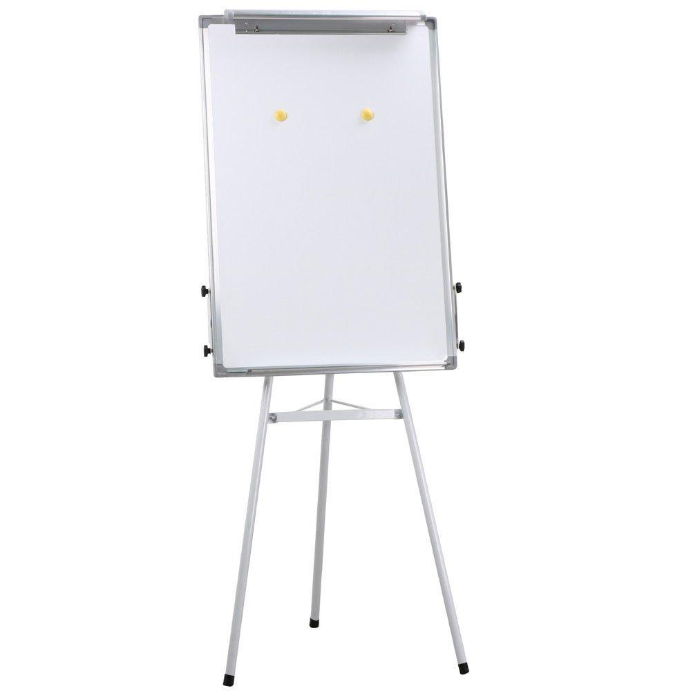Universal Telescopic Tripod Dry Erase Presentation Easel, White Board, w/2 Hooks + FREE E-Book