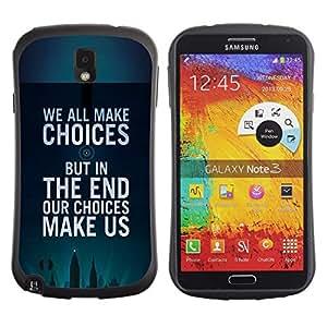 Suave TPU GEL Carcasa Funda Silicona Blando Estuche Caso de protección (para) Samsung Note 3 / CECELL Phone case / / choices inspiring motivational poster /
