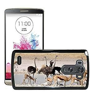 Hot Style Cell Phone PC Hard Case Cover // M00115073 Ostrich Birds Flightless Bird // LG G3 VS985