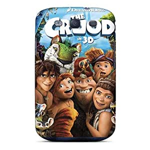 Bumper Cell-phone Hard Cover For Samsung Galaxy S3 (SFf10657ADLX) Provide Private Custom Attractive The Croods Skin