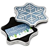 Amazon.com Gift Card in a Snowflake Tin (Happy Holidays Card Design)