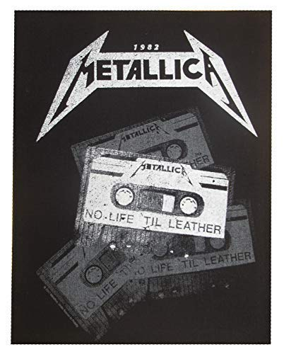 NagaPatches Metallica 1982 patche dorsal dossard grande taille