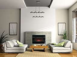 Bionaire Electric Fireplace Heater with Adjustable Flame Intensity