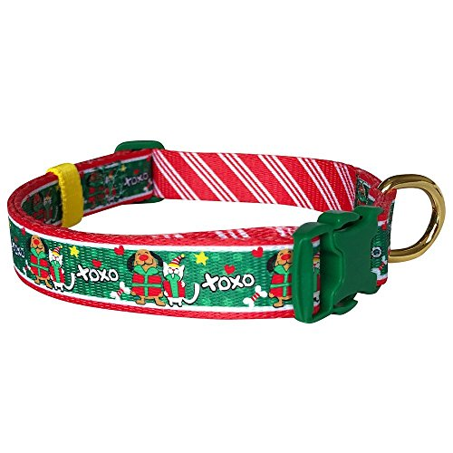 Pet Rejoir Creative Christmas Dog Collar- XOXO Gifting Love Holiday Dog Collar- Neck 15~19