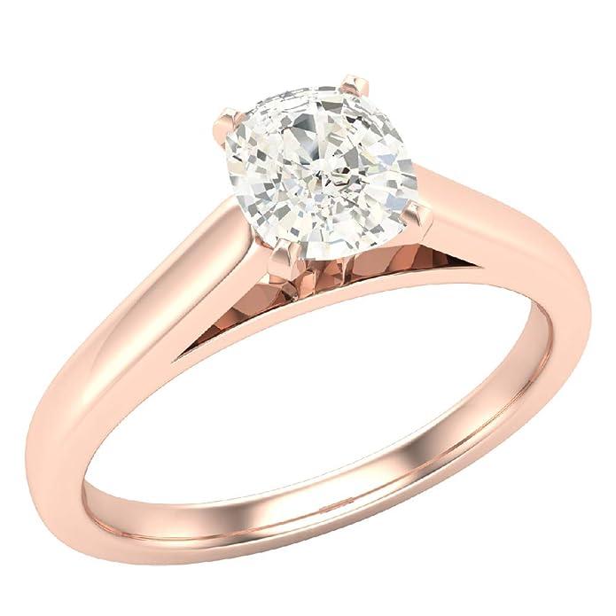Amazon.com: Anillo de compromiso de diamante de 0,50 ...