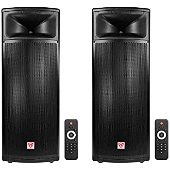 2 rockville bpa225 dual 15 powered 1500w pro dj pa speakers w bluetooth tws. Black Bedroom Furniture Sets. Home Design Ideas