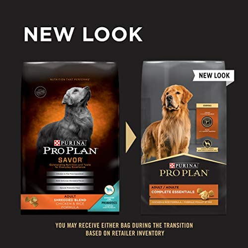 Purina Pro Plan With Probiotics Shredded Blend High Protein, Adult Dry Dog Food Chicken & Rice 3
