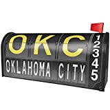 NEONBLOND OKC Airport Code for Oklahoma City Magnetic Mailbox Cover Custom Numbers