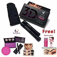 3D MASCARA Younique Moodstruck 3D Fiber Lashes+ Fortified with uplift Enrichi en uplift/ Black color high GREAT quality + (FREE! one EYEBROW PENCIL)