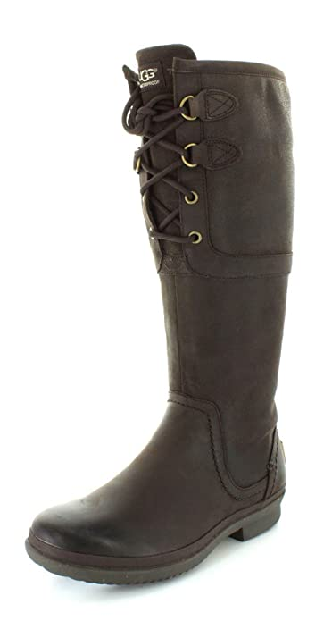 57140b16 UGG Women's Elsa Stout Leather Boot 5 B (M): Amazon.co.uk: Shoes & Bags