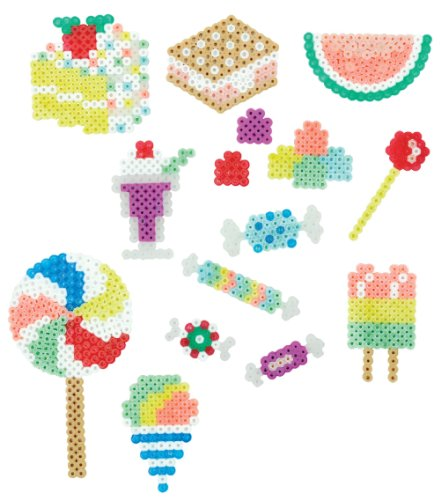 Perler 80-42882 Bucket O' Beads Fun Fusion Fuse Bead Kit-Sweet Shoppe (Perler Beads Bucket)