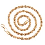 """Michley Mens Jewelry Heavy Gold Filled 24"""" Inches Rope Chain Necklace 6mm"""