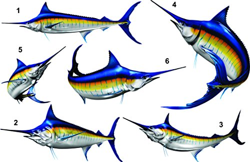 "Stripped Marlin Beautiful Fish Decal for Your Boat, Vehicle, Etc. Many Sizes and Styles Available 12"" to 40"""