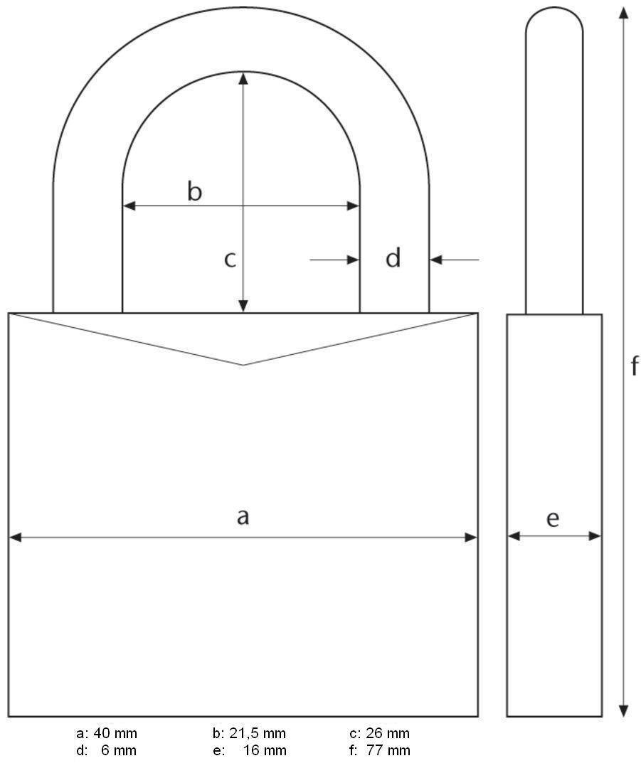 Abus 165//40SB Lucchetto a combinazione variabile 40 mm corpo in ottone