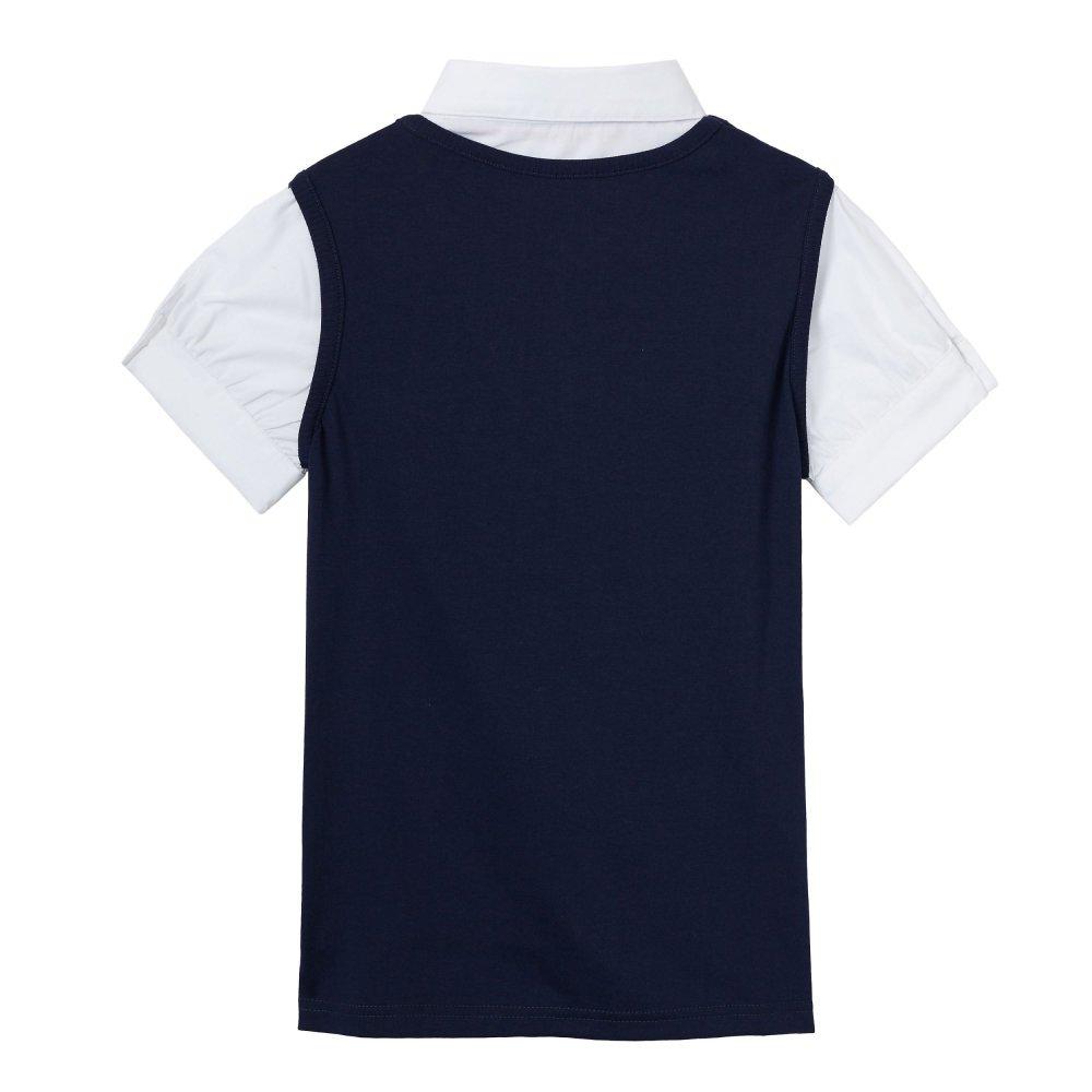 French Toast Girls Short Sleeve 2-fer Vest