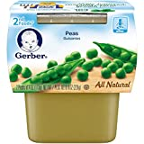 Gerber 2nd Foods Peas, 4 oz Tubs, 2 Count