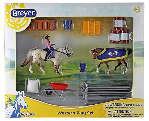 Breyer Stabemates Western Horse Play Set