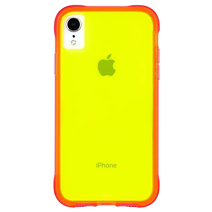 pretty nice 12948 cf8b9 Case-Mate - iPhone XR Case - TOUGH - iPhone 6.1 - Green/Pink Neon