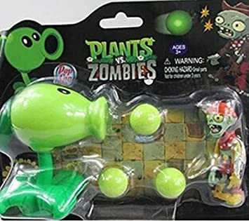 Pvz plants vs zombies pea shooter pvc action figure model toy christmas gifts