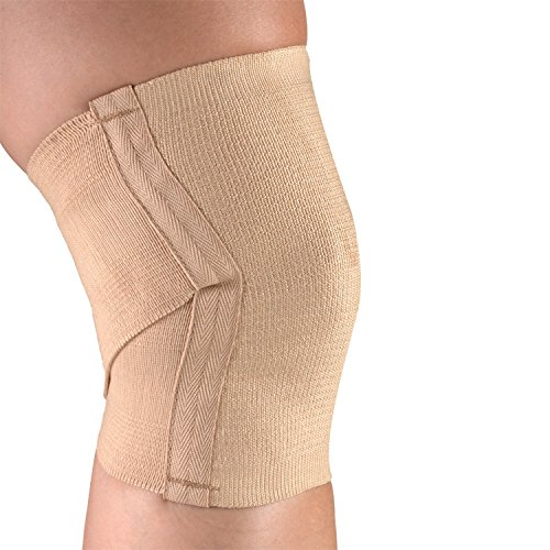 (CHAMPION Knee Support Criss-Cross Style Knit Elastic, Beige, Medium)