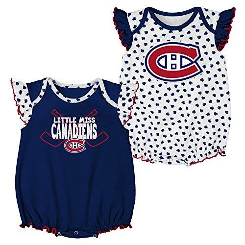 NHL Montreal Canadiens Newborn & Infant Hockey Hearts 2Piece Onesie Set, 12 Months, White (Hockey Nhl Montreal)