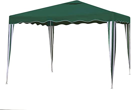 Gazebo Desmontable Verde de Hierro de 300x300 cm - LOLAhome ...