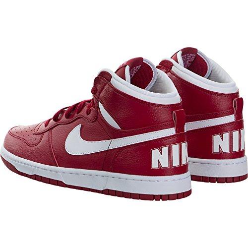 Nike Mens Scarpe Da Ginnastica Alta Di Pallacanestro Rossi