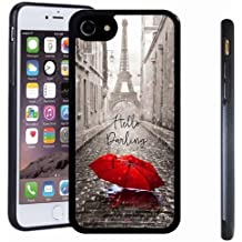 iphone 7 case, SoloShow(R) Slim Shockproof TPU Soft Case Rubber Silicone for Apple iphone 7 [Red umbrella]