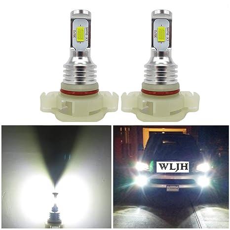 WLJH 2pcs bombillas de luz LED PSX24W 72W de alta potencia LED chipsets CSP extremadamente brillante