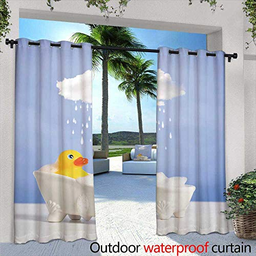 Lightly Fashions Drape,Rock Climber,W72 x L84 Outdoor Patio Curtains Waterproof with Grommets
