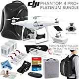 DJI-Phantom-4-PRO-PRO-Plus-Quadcopter-DJI-CPPT000549-w-Platinum-Bundle-Remote-w-Built-in-Monitor-High-Capacity-Intelligent-Flight-Battery-5870mAh-Multifunctional-Backpack-and-more