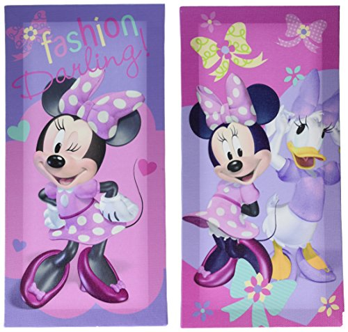 (Disney Minnie Mouse Canvas Wall Art (2 Pack), 7 x 14)