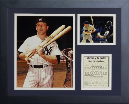 Legends Never Die Mickey Mantle Bats Framed Photo Collage, 11x14-Inch ()