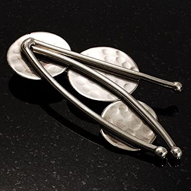3acfce76403 Amazon.com: Avalaya 'Modern Leaf' Stainless Steel Ethnic Brooch: Brooches  And Pins: Jewelry