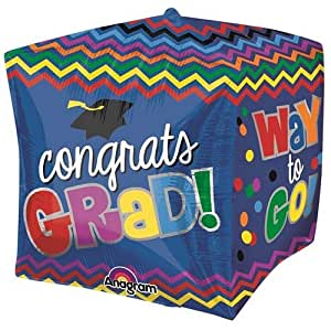 PARTY CENTRE Anagram Graduation Celebration Cubez Balloon 15in