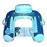 Blue Wave Drift + Escape U-Seat Inflatable Lounger, Blue