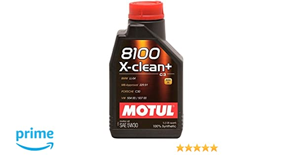 MOTUL 102259 antifricción 8100 X de Clean + 5 W de 30, 1 L: Amazon ...