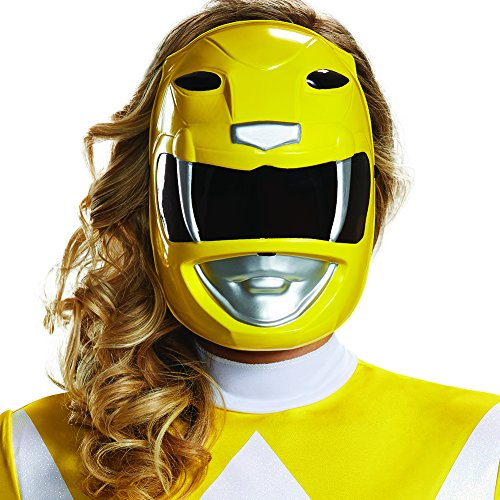 (Disguise Women's Yellow Ranger Adult Mask, One)