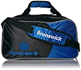 Brunswick Crown Double Tote Bowling Bag, Royal