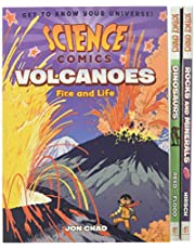 Science Comics Boxed Set: Volcanoes, Dinosaurs, and Rocks and Minerals