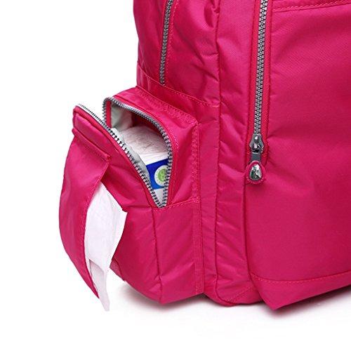 Mommy Bag Multifuncional De Alta Capacidad Hombros Paquete Madre Paquete Madre-bebé Mujeres Embarazadas Baby Out Mochila ( Color : Pieces Of Red ) Pieces Of Red