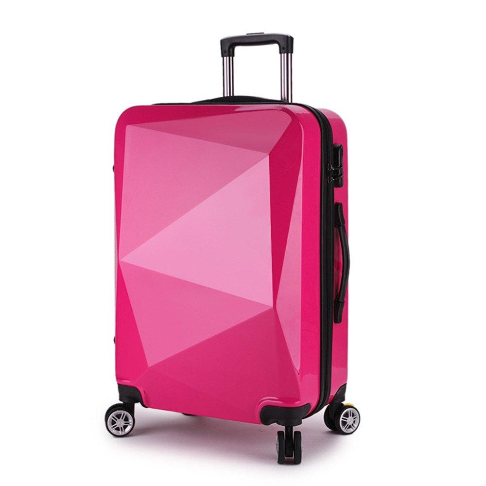 荷物ケース, スーツケース, ミラーPCマテリアルスーツケース20インチの搭乗ロッドボックス荷物室 荷物エアボックススーツケース (色 : 赤) B07TV9R9FQ 赤