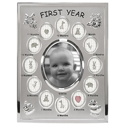 Malden International Designs Baby's First Year Collage Picture Frame, 13 Option, 1-3.5x4, 12-1x1, - Shipping International Price