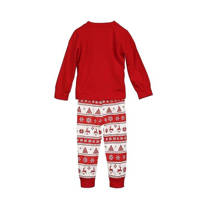 3a06253945 Amazon.com  FEDULK Matching Family Pajamas Christmas Reindeer Print  Sleepwear Homewear Kids Pjs Sets  Clothing
