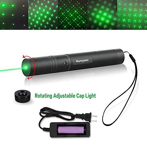 (Tactical Green Hunting Rifle Scope Sight Laser Pen Demo Remote Pen Pointer Projector Travel Outdoor Flashlight LED Interactive Baton Funny Laser toy (Laser Pen))